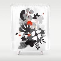 scandinavian Shower Curtains featuring scandinavian nature by Lucja