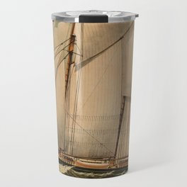 Vintage Schooner Yacht Illustration (1882) Travel Mug