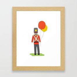 Balloon Soldier Framed Art Print