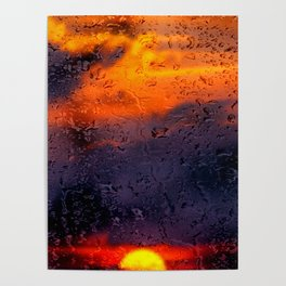 Concept sunset : Rainy sunset Poster