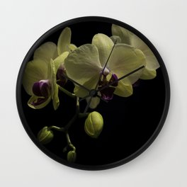 The Yellow Orchid Wall Clock