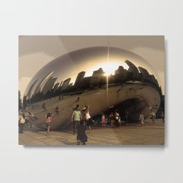 Chicago in a Bean Metal Print