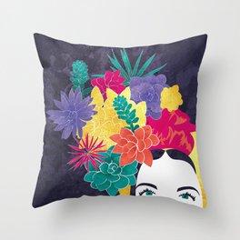 Succulent Eyes Throw Pillow