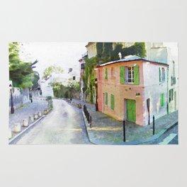Paris in watercoor Rug