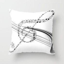 DT MUSIC 7 Throw Pillow
