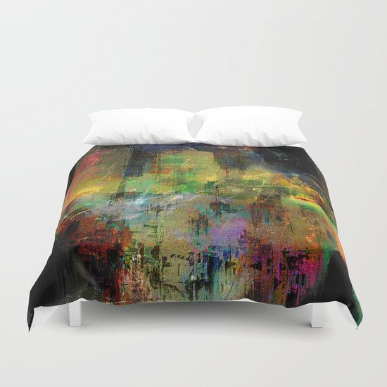 where is my city ? Duvet Cover