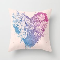 Bees & Roses Throw Pillow