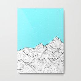 Glacier Mounts Metal Print