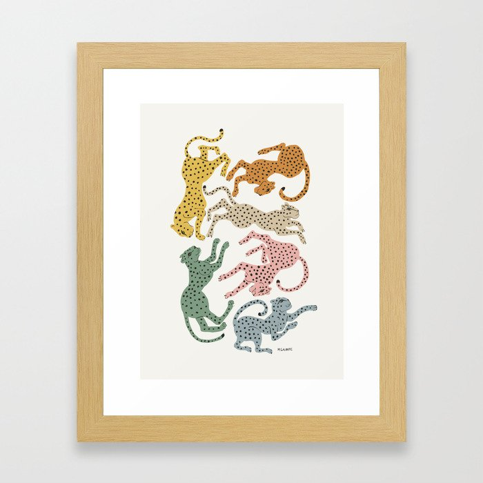 Rainbow Cheetah Gerahmter Kunstdruck