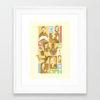 parks and rec Framed Art Prints featuring Parks & Rec - Dammit Jerry! Edition by Florey