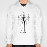 chandelier Hoodies featuring Chandelier by Selena Gazda