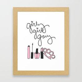 Girly Girl Gang Framed Art Print