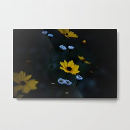 Yellow Flower in a Blue World Metal Print