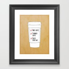 (More) Coffee Framed Art Print