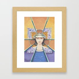 """Portrait with chromed Nón Lá"" Framed Art Print"