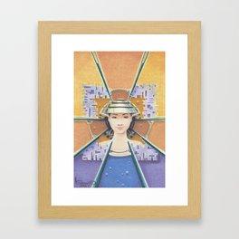 """""""Portrait with chromed Nón Lá"""" Framed Art Print"""