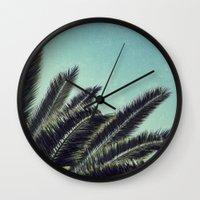 palms Wall Clocks featuring Palms by RichCaspian