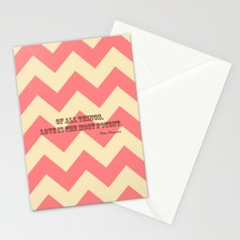 Chevron Love Stationery Cards