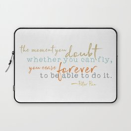 Nostalgic Inspirational Quote Storybook Quote from Peter Pan Laptop Sleeve