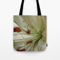 burgundy Tote Bags featuring Burgundy Lining by Astrid Ewing