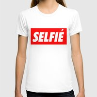 selfie T-shirts featuring Selfie by Poppo Inc.