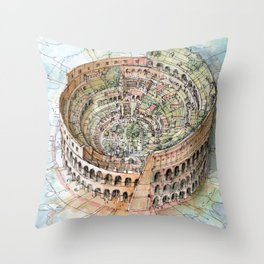 The Colosseo City Throw Pillow