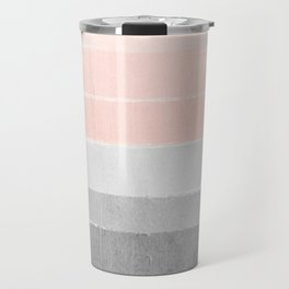 Color story millennial pink and grey transition brushstrokes modern canvas art decor dorm college Travel Mug
