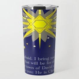 starry sky & crosses (luke 2:10-11)  Travel Mug