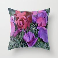 valentines Throw Pillows featuring Valentines  by Natalie Snowdon