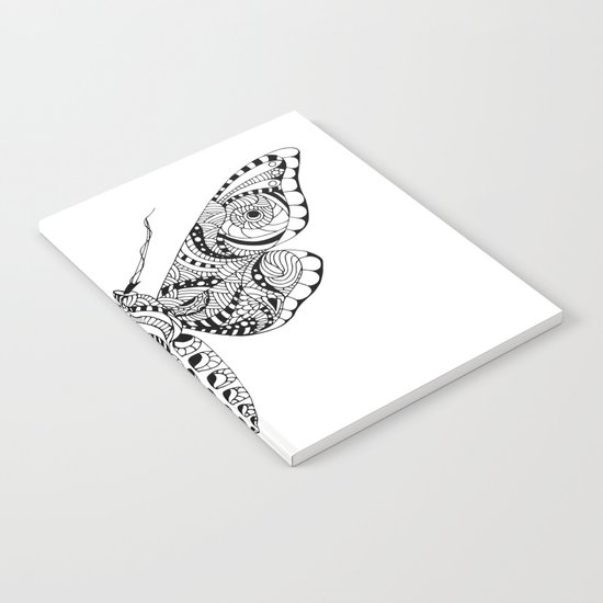 Black butterfly Notebook