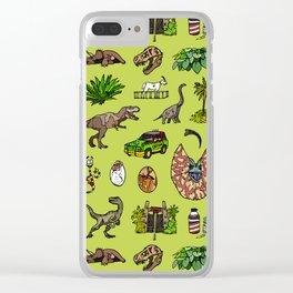Jurassic pattern lighter Clear iPhone Case