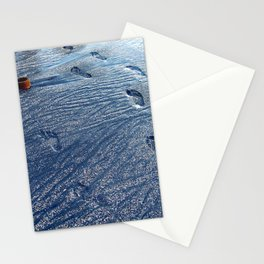 Footprints at the Beach Stationery Cards