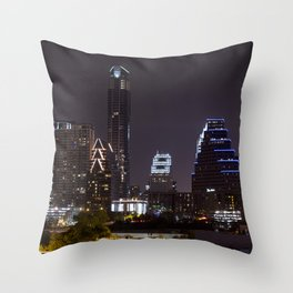 Nighttime Austin Throw Pillow