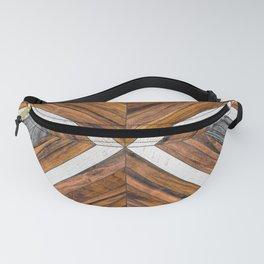 Urban Tribal Pattern No.4 - Wood Fanny Pack