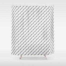 Jig, Hook, Bobber Pattern Shower Curtain
