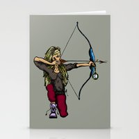 archer Stationery Cards featuring Archer (variation) by Natalie Easton