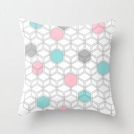 Hexagon nordic pattern Throw Pillow
