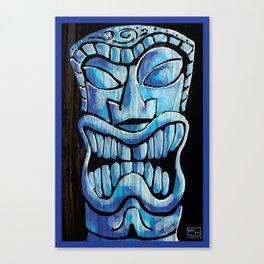 Blue Tiki Canvas Print