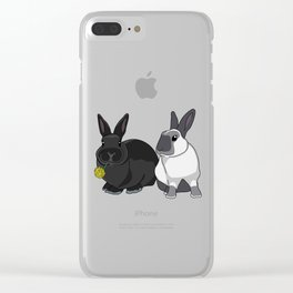 Elly and Bobby Clear iPhone Case
