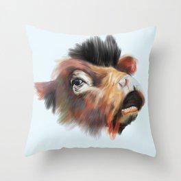 Crazy Cow Throw Pillow