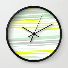 lemon grass / light Wall Clock