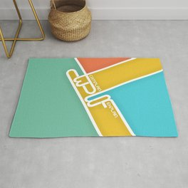 Lab No. 4 - Never Complain Never Explain Quote Inspirational Typography Poster Rug