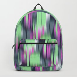 abstract ikat in lime and pink Backpack