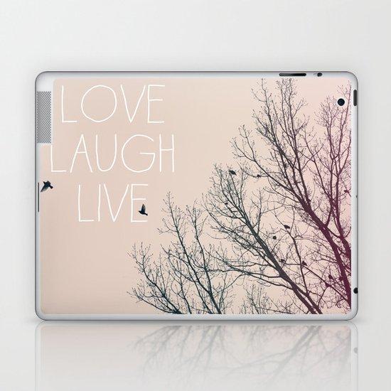 Love Laugh Live Laptop & iPad Skin