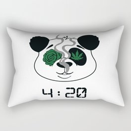 4:20 Panda (4/20 Edition) Rectangular Pillow