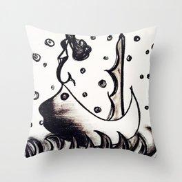Siren of the sea men Throw Pillow