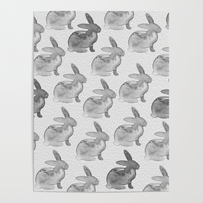 Watercolor Bunnies 1N by Kathy Morton Stanion Poster
