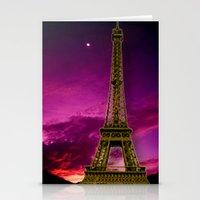 eiffel tower Stationery Cards featuring Eiffel Tower  by Elena Indolfi