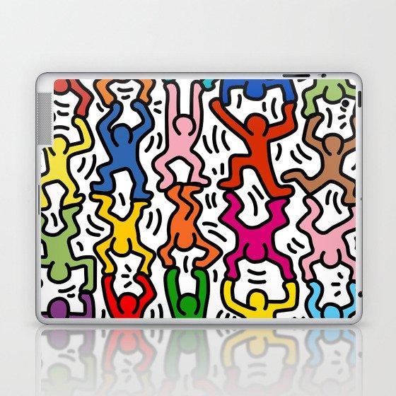 Homage to Keith Haring Acrobats II Laptop & iPad Skin