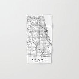 Chicago Illinois Street Map Minimal Hand & Bath Towel